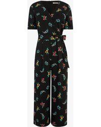 Oasis - Floral Print Jumpsuit - Lyst
