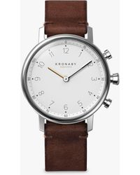 Kronaby - Connected A1000-0711 Unisex Carat Leather Strap Smartwatch - Lyst