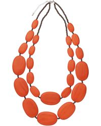 One Button - Large Double Row Pebble Necklace - Lyst