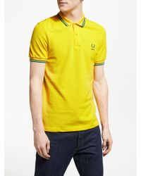 Fred Perry - Twin Tipped Brazil Country Polo Shirt - Lyst