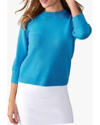 Pure Collection - Toccato Blouson 3/4 Sleeve Jumper - Lyst