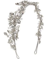 Ivory & Co. | Starlit Sky Crystal And Cubic Zirconia Pave Side Headpiece | Lyst