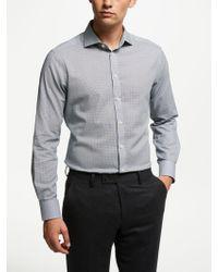 John Lewis - Italian Cotton Geo Print Shirt - Lyst