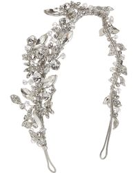 Ivory & Co. - Starlit Sky Crystal And Cubic Zirconia Pave Side Headpiece - Lyst