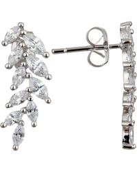 Ivory & Co. - Icon Marquise Cubic Zirconia Cluster Drop Earrings - Lyst
