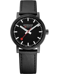 Mondaine - Mse.35121.lb Unisex Evo 2 Leather Strap Watch - Lyst