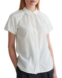 Toast - Cotton Khadi Puff Sleeve Shirt - Lyst