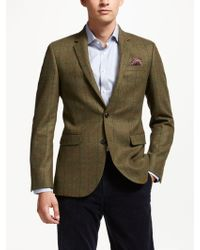 John Lewis - British Wool Multi Check Tailored Blazer - Lyst