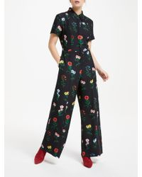 Finery London - Alida Floral Print Wide Leg Jumpsuit - Lyst