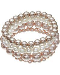John Lewis - Multi Row Faux Pearl Bracelet - Lyst