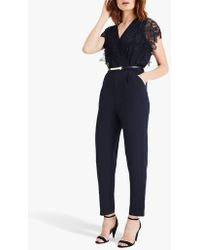Phase Eight - Amira Lace Top Jumpsuit - Lyst