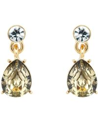 John Lewis - Monet Glass Crystal Teardrop Drop Earrings - Lyst