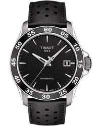 Tissot - T1064071605100 Men's V8 Automatic Date Leather Strap Watch - Lyst
