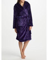 John Lewis - Shimmer Fleece Dressing Gown - Lyst
