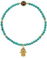 John Lewis - Melissa Odabash Turquoise Bead Hamsa Hand Stretch Bracelet - Lyst