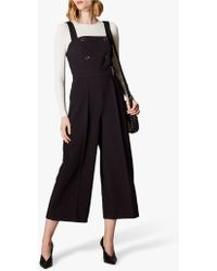 7bb65f596a2 Karen Millen Tailored Crepe Jumpsuit - Black in Black - Lyst