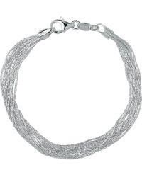 Links of London - Essentials Sterling Silver Silk 10 Row Bracelet - Lyst