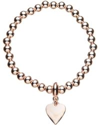 John Lewis - Ball Bead Heart Charm Stretch Bracelet - Lyst