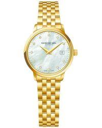Raymond Weil - 5988-p-97081 Women's Toccata Diamond Stainless Steel Bracelet Strap Watch - Lyst