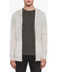 AllSaints - Mode Merino Wool Zip Up Hoodie - Lyst