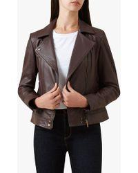 Hobbs - Brown 'yasmine' Jacket - Lyst