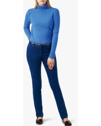 Pure Collection - Washed Velvet Jeans - Lyst