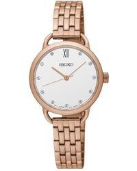 Seiko | Sur698p1 Women's Conceptual Swarovski Crystal Bracelet Strap Watch | Lyst