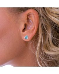John Lewis - Nina B 9ct White Gold Triangular Stud Earrings - Lyst