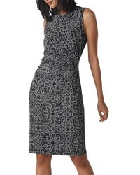 Whistles - Riya Print Jersey Bodycon Dress - Lyst