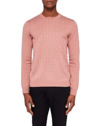 Ted Baker | Crazy Geo Jacquard Sweater | Lyst