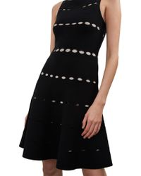 French Connection - Crepe Flared Dress - Lyst