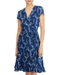 Ralph Lauren - Polo Floral Print Gauze Wrap Dress - Lyst