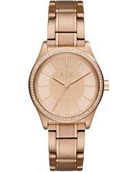 Armani Exchange - Ax5442 Women's Crystal Bracelet Strap Watch - Lyst