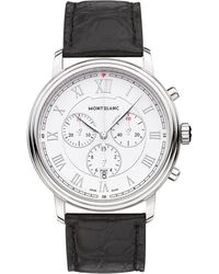 Montblanc - 114339 Men's Tradition Chronograph Alligator Leather Strap Watch - Lyst