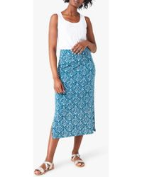 0316f0d94 White Stuff Way Of Life Skirt in Blue - Lyst