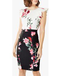 2b96bacd417d Coast - Frieda Floral Print Shift Dress - Lyst