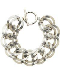 Monet - Textured Double Chain Bracelet - Lyst