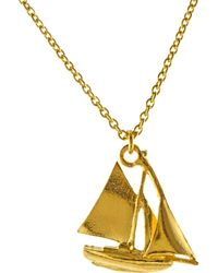 John Lewis - Alex Monroe 22ct Gold Vermeil Sailing Boat Necklace - Lyst