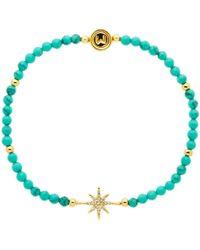 Melissa Odabash - Turquoise And Crystal Star Stretch Bracelet - Lyst