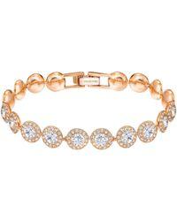 Swarovski - Angelic Round Crystal Bracelet - Lyst