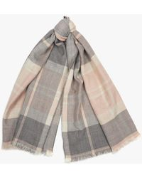 Barbour - Portree Check Wrap - Lyst