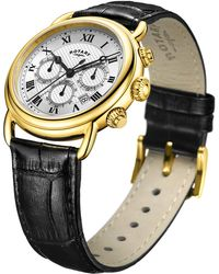 John Lewis - Rotary Men's Canterbury Chronograph Date Leather Strap Watch - Lyst