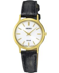 Seiko - Sup300p1 Women's Solar Leather Strap Watch - Lyst