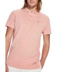 Scotch & Soda - Garment Dyed Cotton Polo Shirt - Lyst