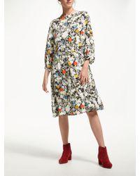 Finery London - Lola Printed Waist Tie Dress - Lyst e0b0e4796