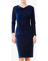 Adrianna Papell - Tanya Ribbed Velvet Sheath Dress - Lyst