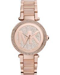 Michael Kors - Women's Mini Parker Crystal Bracelet Strap Watch - Lyst