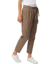 White Stuff - Cotton Floral Trousers - Lyst