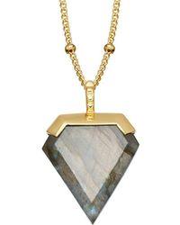 Missoma - 18ct Gold Vermeil Shield Pendant Necklace - Lyst
