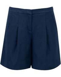 Pure Collection - Aubree Laundered Linen Shorts - Lyst